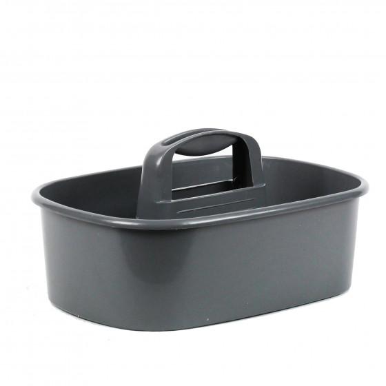 panier outils en plastique gris rangement bricolage on range tout. Black Bedroom Furniture Sets. Home Design Ideas