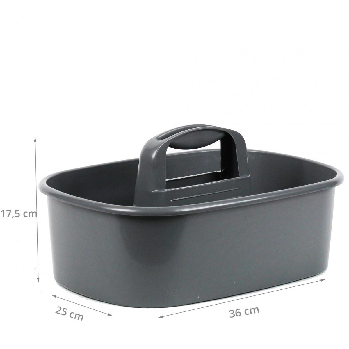 Panier à outils en plastique gris - Rangement bricolage - On Range Tout