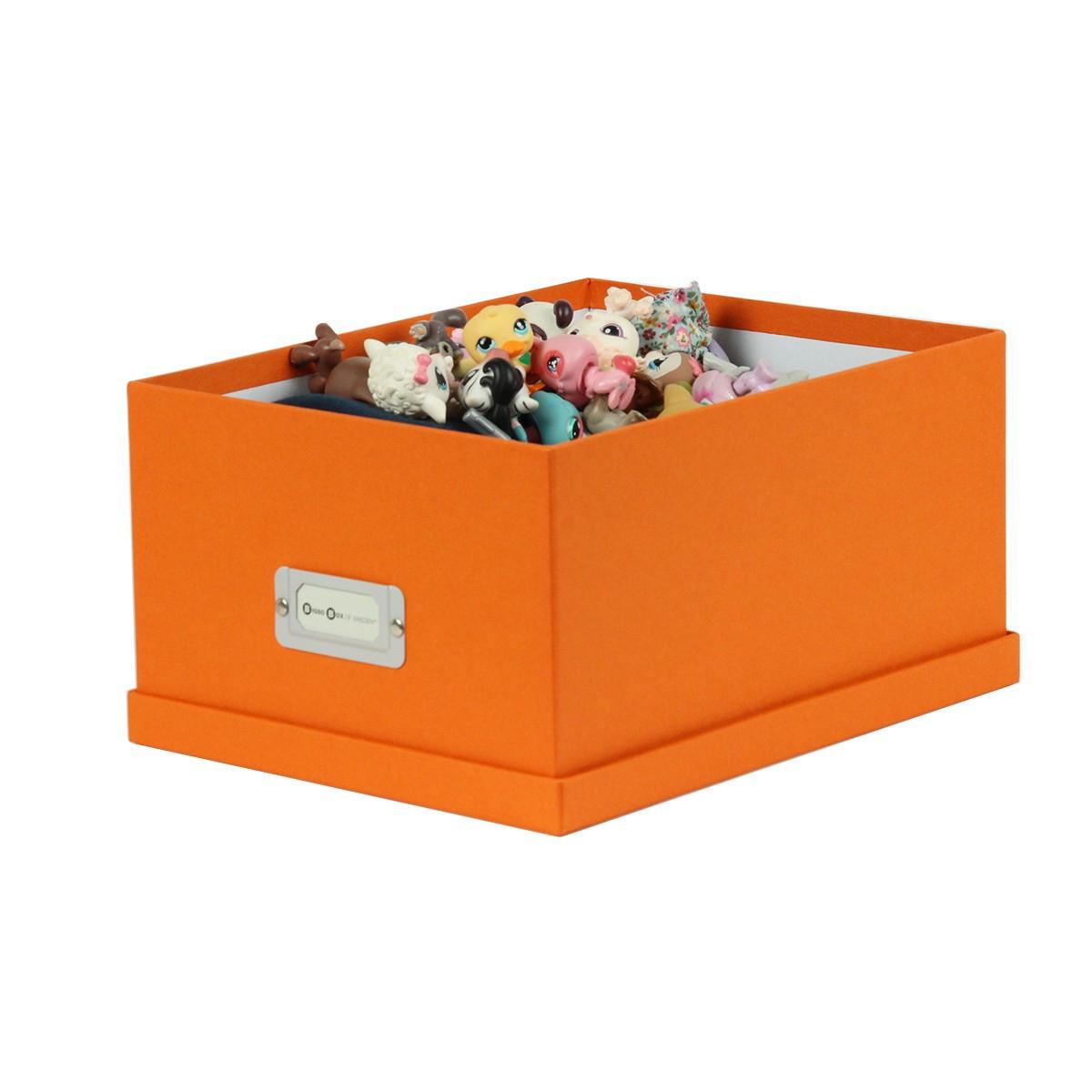bo te en carton orange rangement jeux. Black Bedroom Furniture Sets. Home Design Ideas