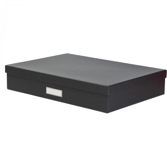 Boîte A3 en carton gris anthracite