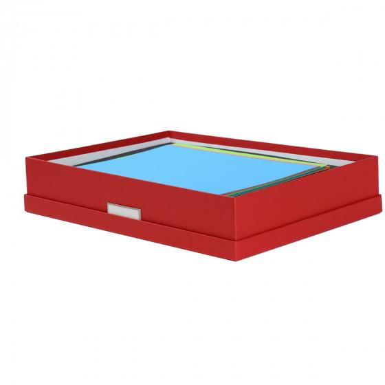 Boîte A3 en carton rouge