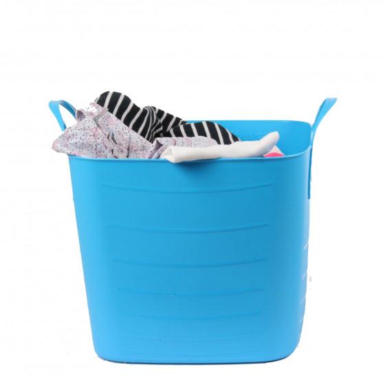 bac de rangement en plastique souple turquoise 15 litres. Black Bedroom Furniture Sets. Home Design Ideas