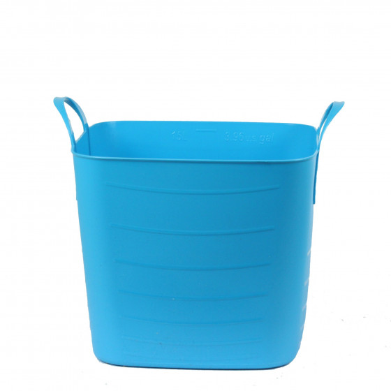 Bac de rangement en plastique souple turquoise