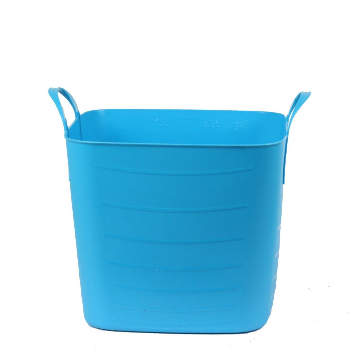 Bac de rangement en plastique souple turquoise 15 litres - Placard plastique rangement ...