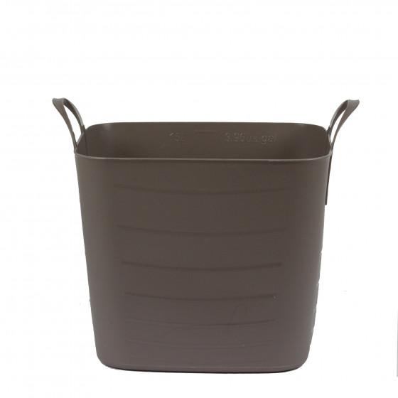 bac de rangement en plastique souple taupe 15 litres. Black Bedroom Furniture Sets. Home Design Ideas