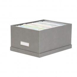 Boîte à DVD en carton gris flanelle