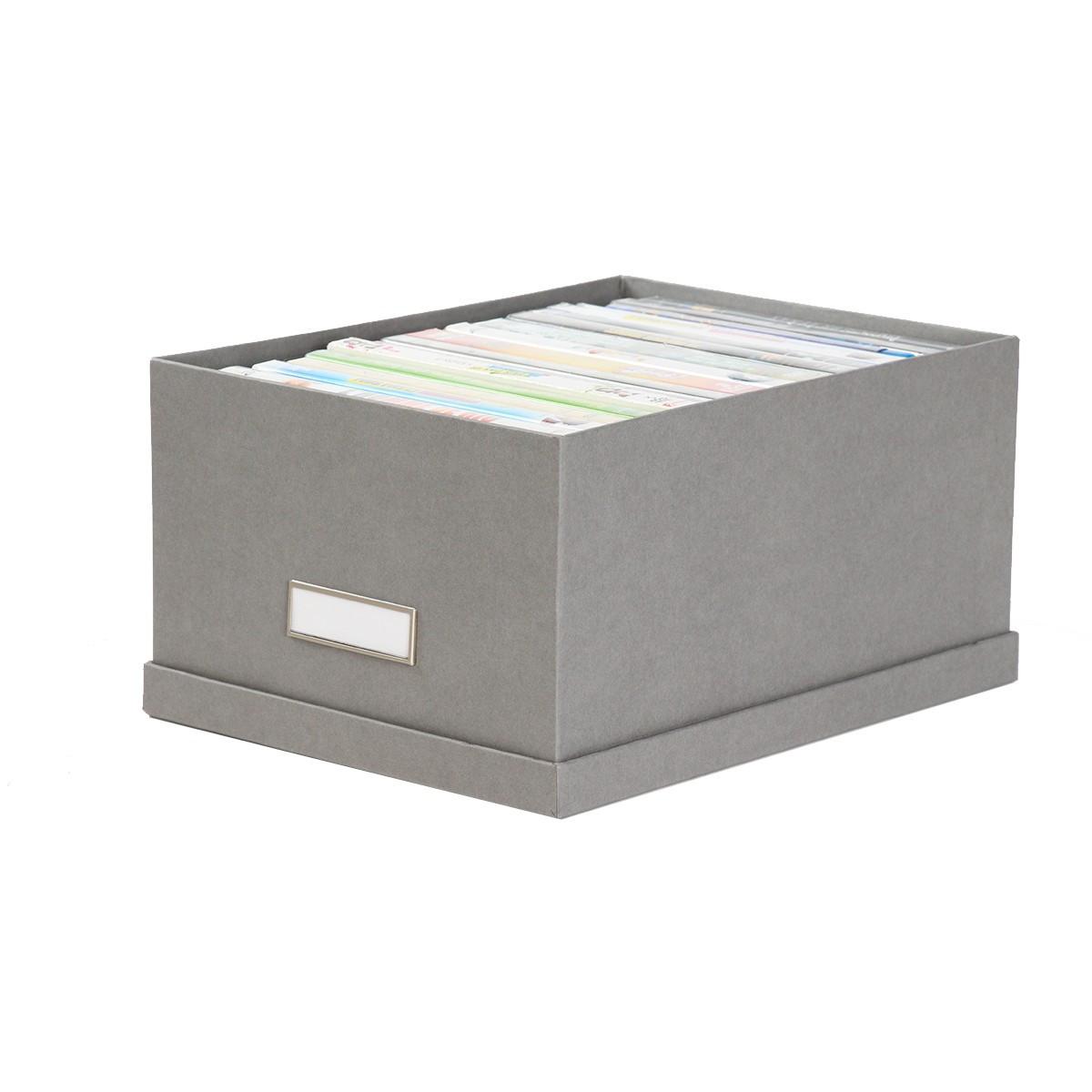 bo te dvd en carton gris rangement son et image. Black Bedroom Furniture Sets. Home Design Ideas