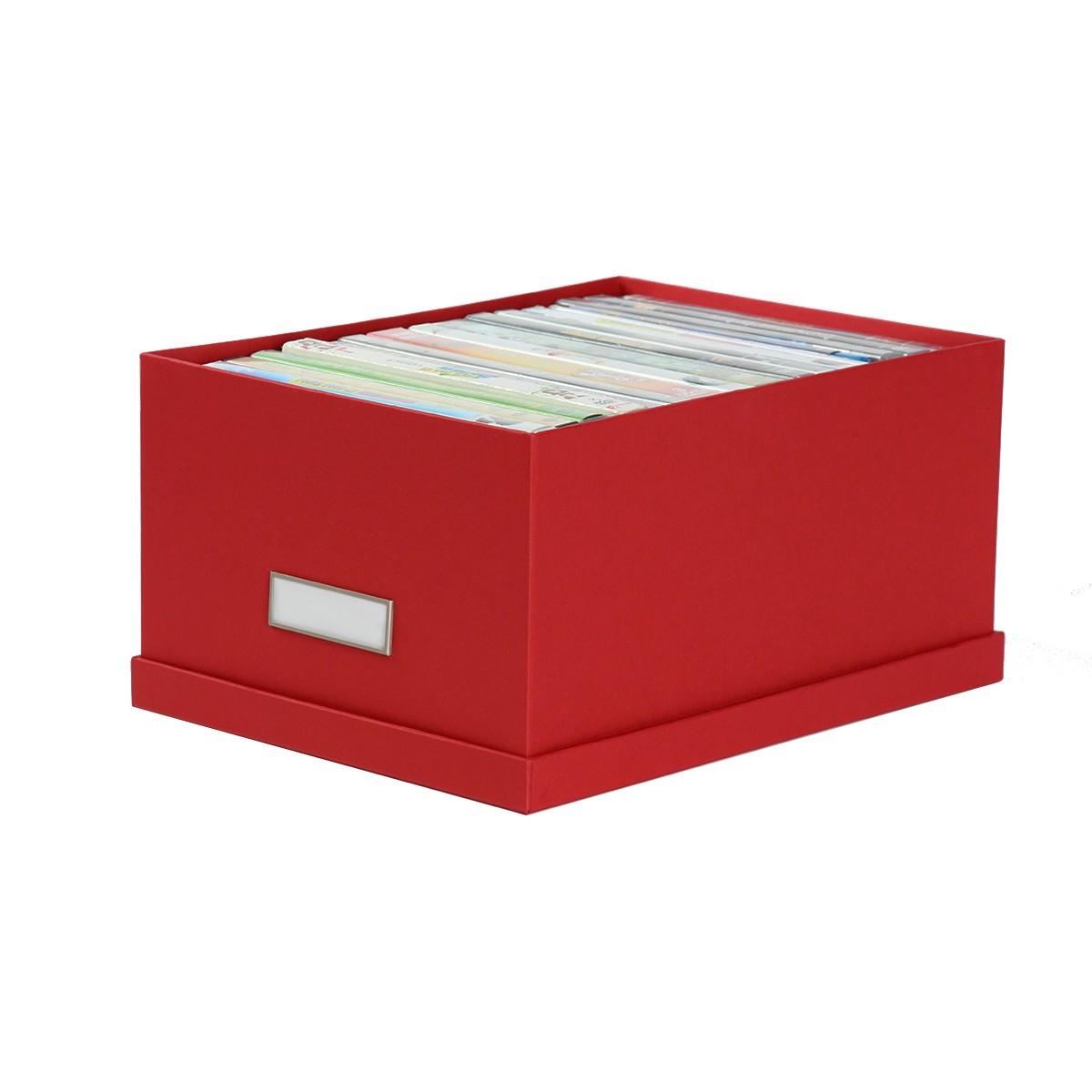bo te de rangement en carton rouge. Black Bedroom Furniture Sets. Home Design Ideas