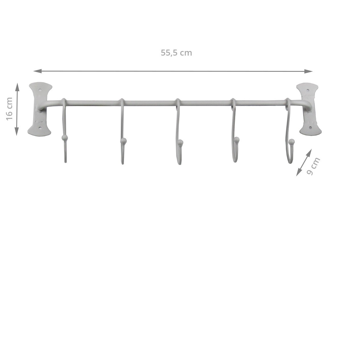 barre ustensiles en m tal peint rangement vaisselle. Black Bedroom Furniture Sets. Home Design Ideas
