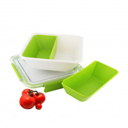 Lunch box micro-ondable à 2 compartiments