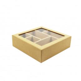 Boîte en papier kraft à 6 compartiments amovibles