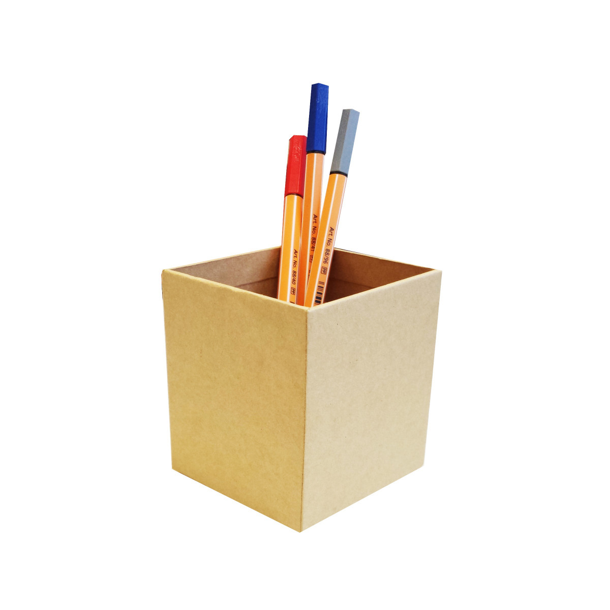 pot crayons en kraft rangement bureau. Black Bedroom Furniture Sets. Home Design Ideas