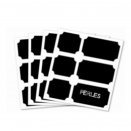 24 étiquettes ardoise adhésives carrées et rectangulaires