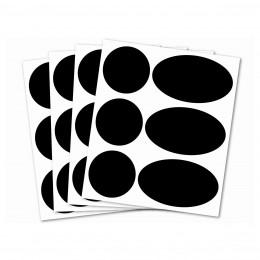 24 étiquettes ardoise adhésives rondes et ovales