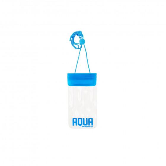 Pochette imperméable transparente avec cordon bleu