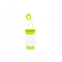 Pochette imperméable transparente avec cordon vert