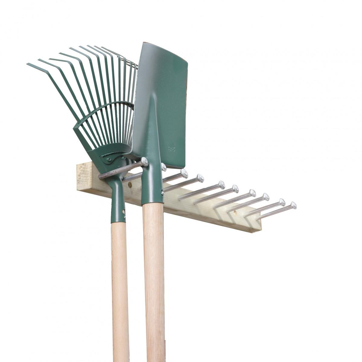 Porte outils jardin bois rangement outils for Porte ustensile mural