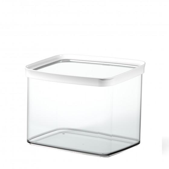 Boîte de rangement alimentaire empilable en plastique. 4,40 litres