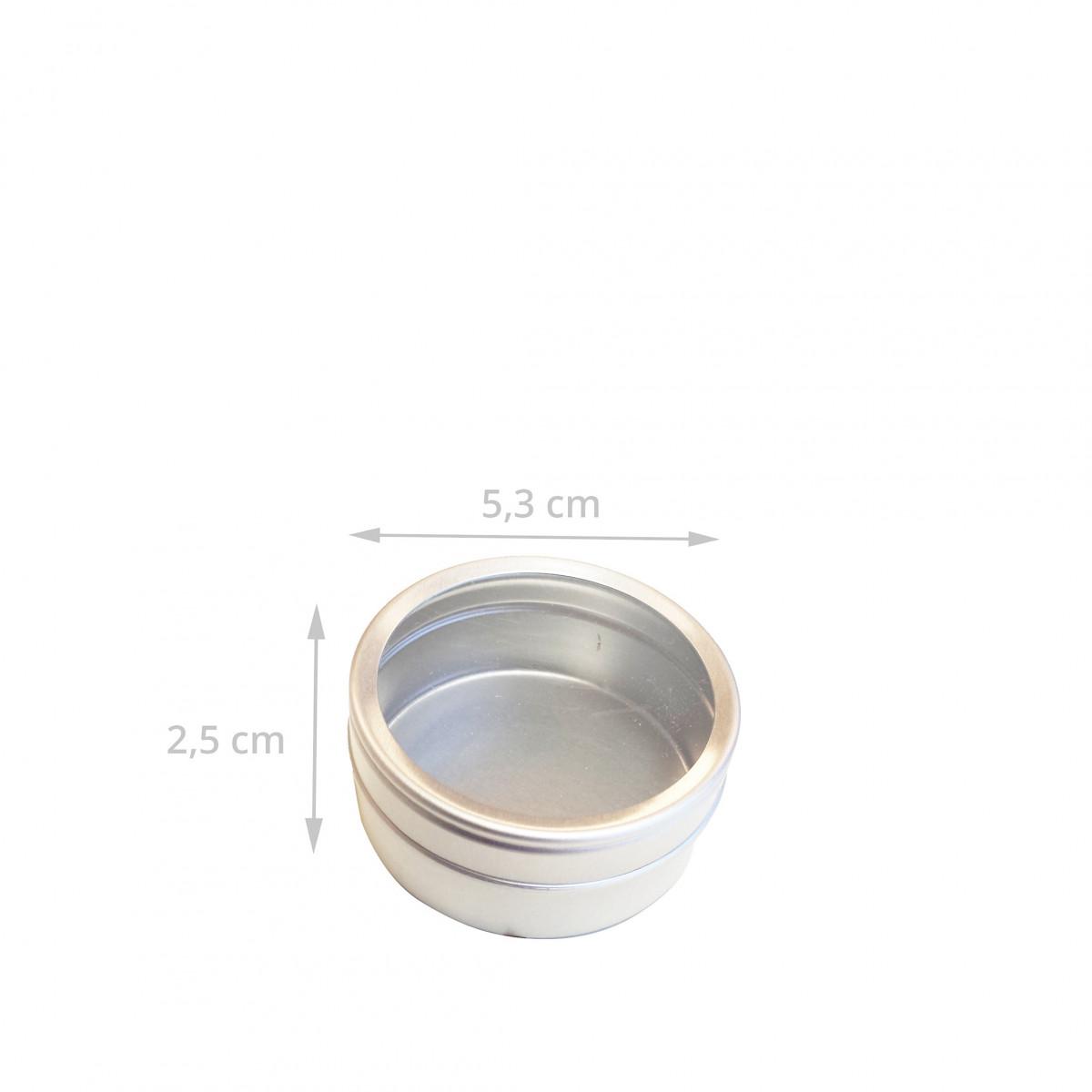 Préférence Boîte métal ronde avec fenêtre - Rangement KD49