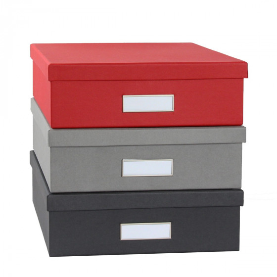 bo te a4 en carton gris clair rangement bureau. Black Bedroom Furniture Sets. Home Design Ideas