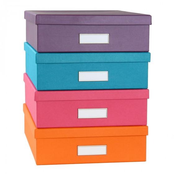 bo te de classement a4 en carton violet rangement bureau. Black Bedroom Furniture Sets. Home Design Ideas