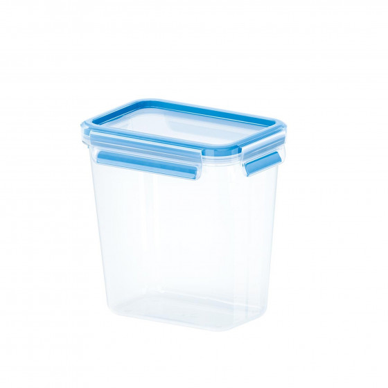 Boîte hermétique haute en plastique transparent. Taille L (1,6 litres)