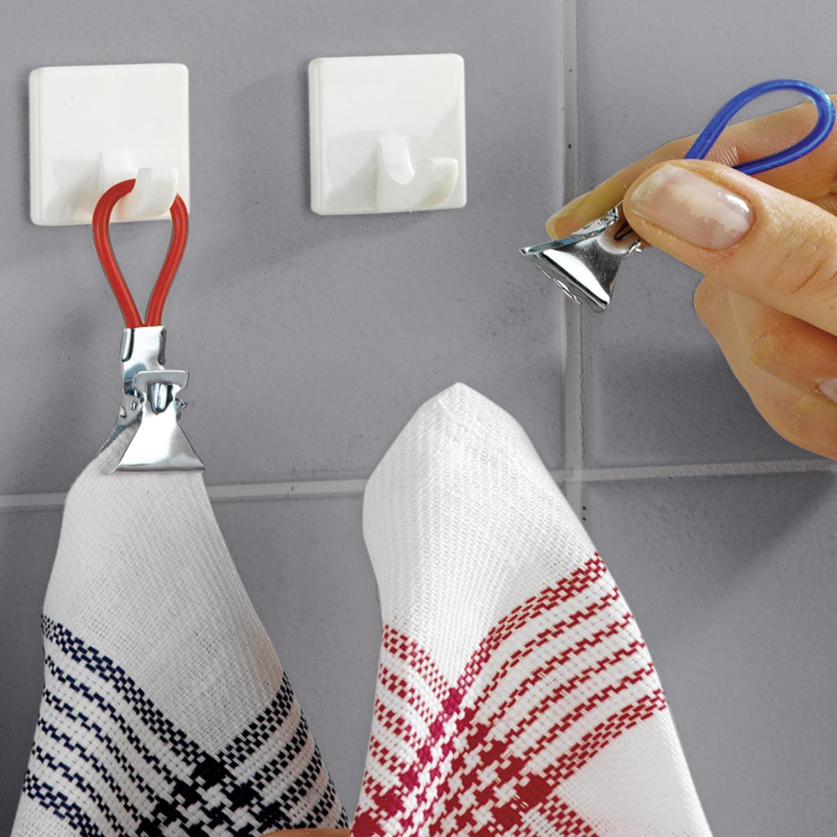 attache torchons et serviettes rangement cuisine. Black Bedroom Furniture Sets. Home Design Ideas