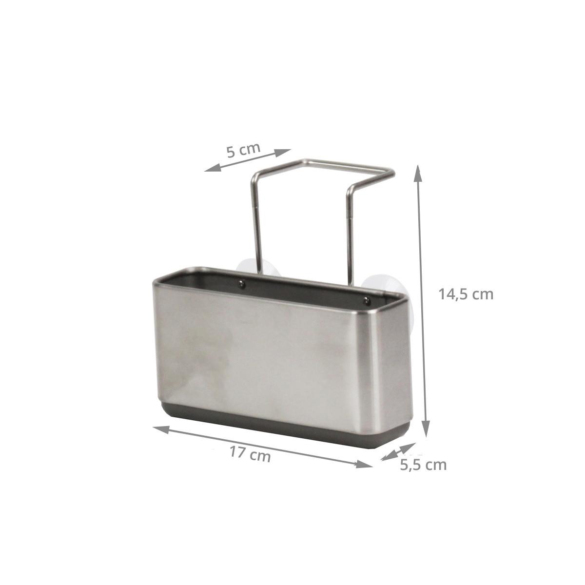 Porte ponge suspendre rangement cuisine for Plan de travail acier