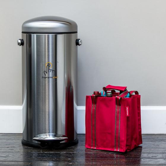 poubelle r tro en acier bross p dale 30 litres cuisine. Black Bedroom Furniture Sets. Home Design Ideas