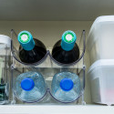 Range-bouteilles pour 2 bouteilles de vin empilable en plastique transparent