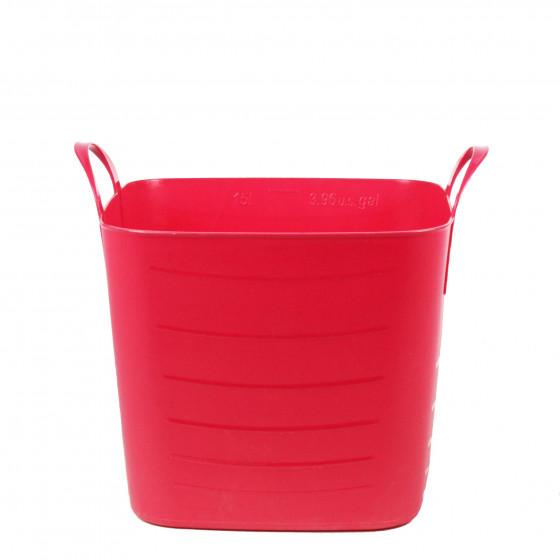 bac rangement plastique souple rose 15 litres. Black Bedroom Furniture Sets. Home Design Ideas