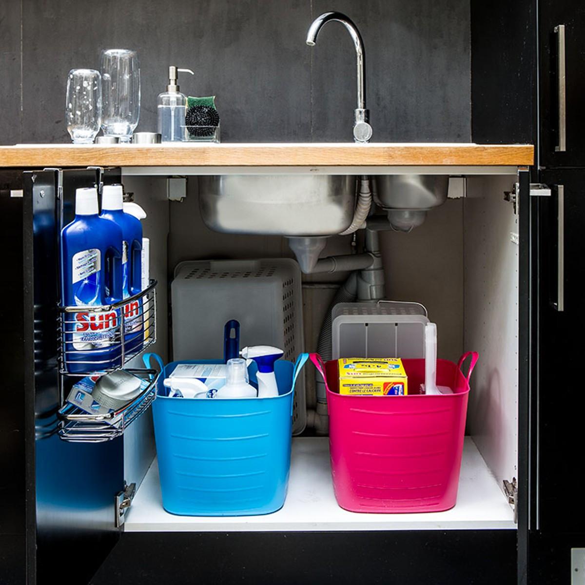 bac rangement plastique souple taupe 15 litres. Black Bedroom Furniture Sets. Home Design Ideas