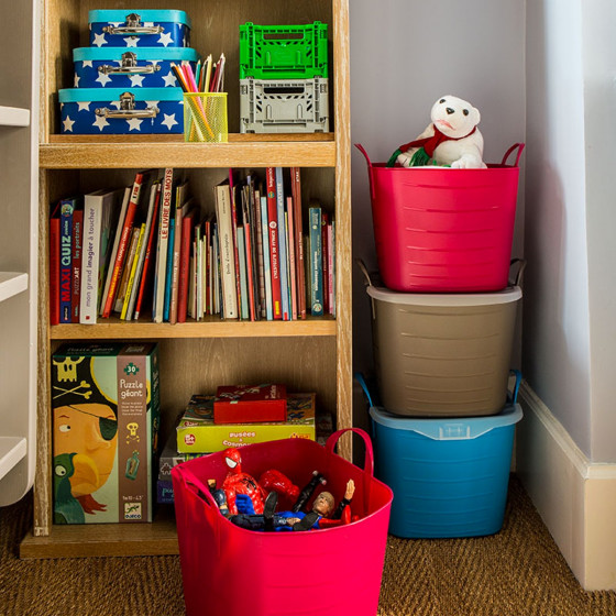 bac souple taupe avec couvercle organisation placards. Black Bedroom Furniture Sets. Home Design Ideas
