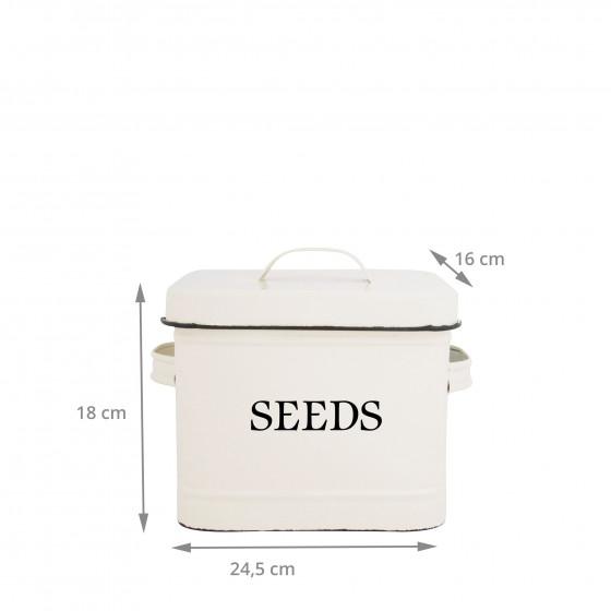 bo te en m tal cr me pour graines rangement jardin. Black Bedroom Furniture Sets. Home Design Ideas