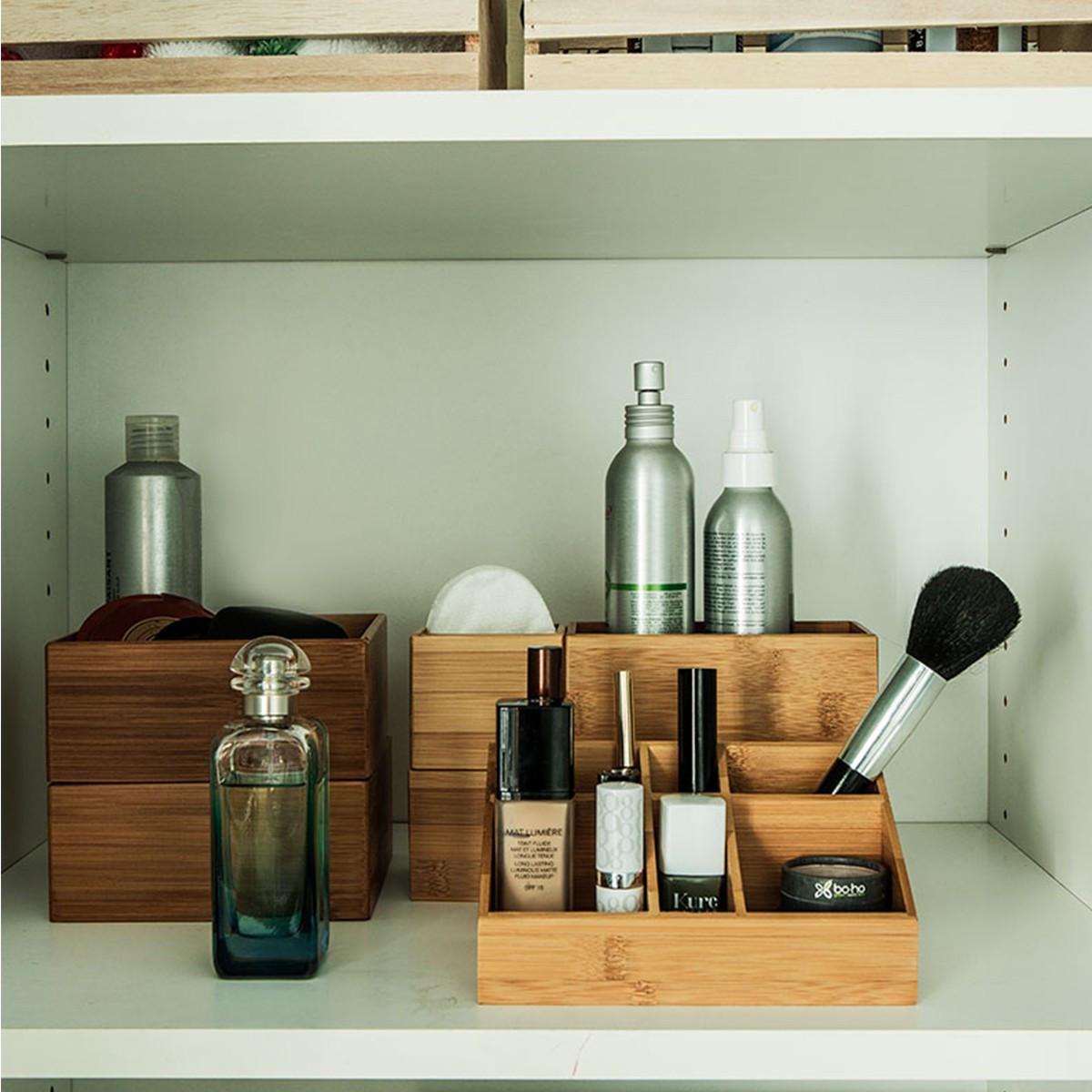 Petit bac carr bambou rangement tiroirs - Organisateur tiroir cuisine ...