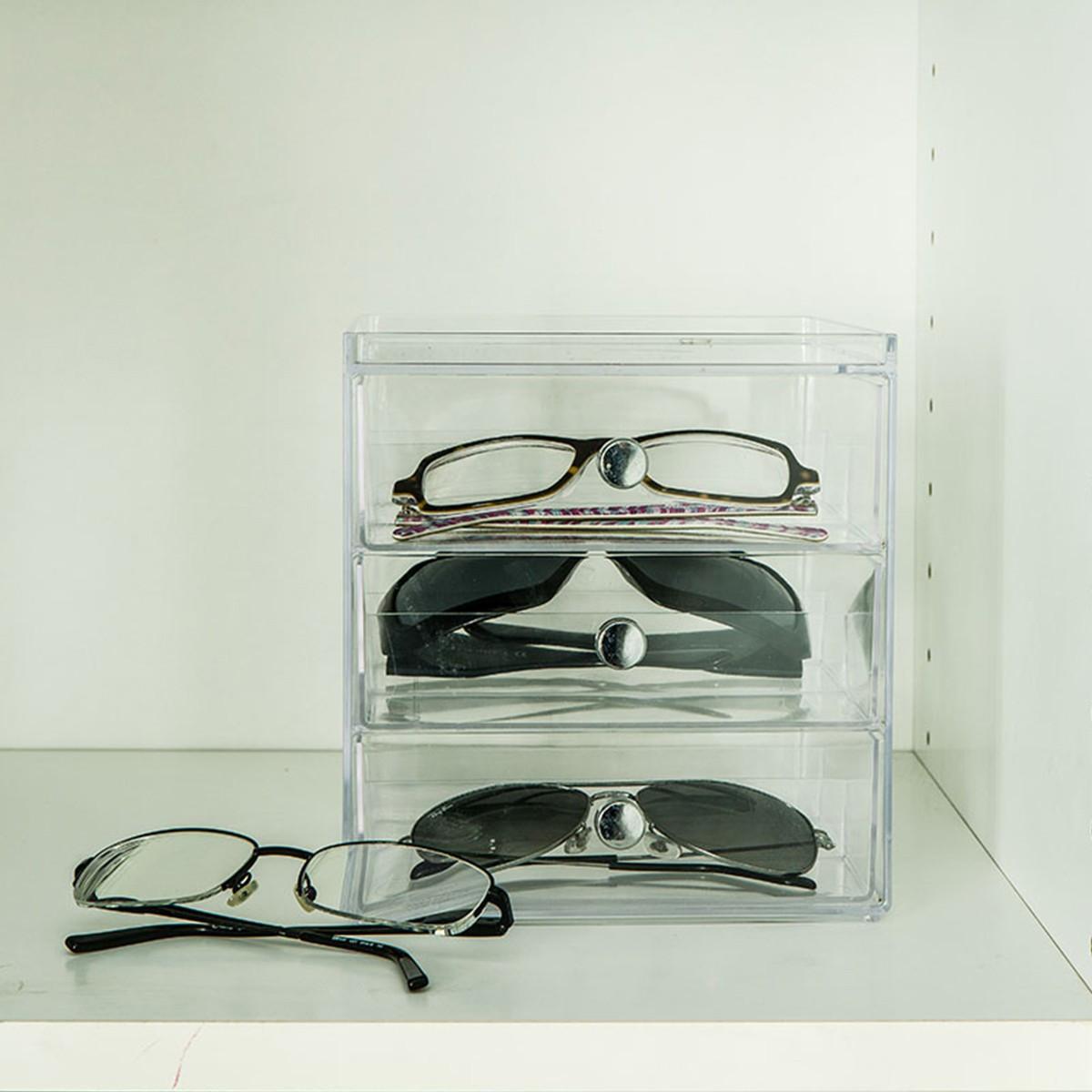 Bo te de rangement lunettes en acrylique - Boite de rangement pour bagues ...