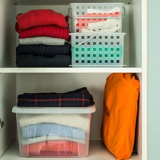 bo te en plastique transparent rangement. Black Bedroom Furniture Sets. Home Design Ideas