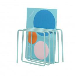 Porte-revues et courriers en métal bleu clair