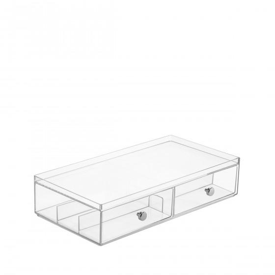 Boîte de rangement acrylique pour maquillage ou lunettes