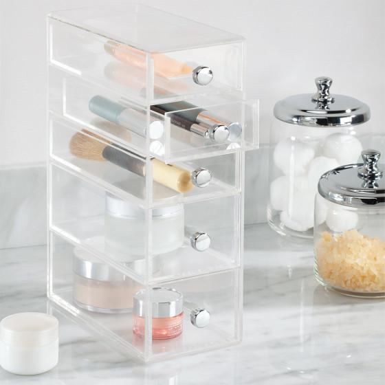 Boîte de rangement maquillage à 5 tiroirs