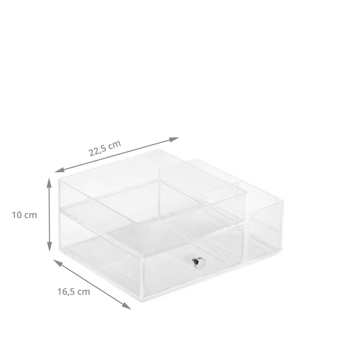 bo te acrylique transparent rangement maquillage. Black Bedroom Furniture Sets. Home Design Ideas