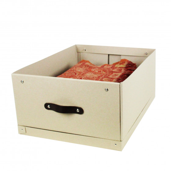 grande bo te de rangement en carton kraft. Black Bedroom Furniture Sets. Home Design Ideas