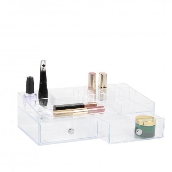Bo te acrylique tiroir compartiments rangement maquillage - Rangement avec tiroir ...