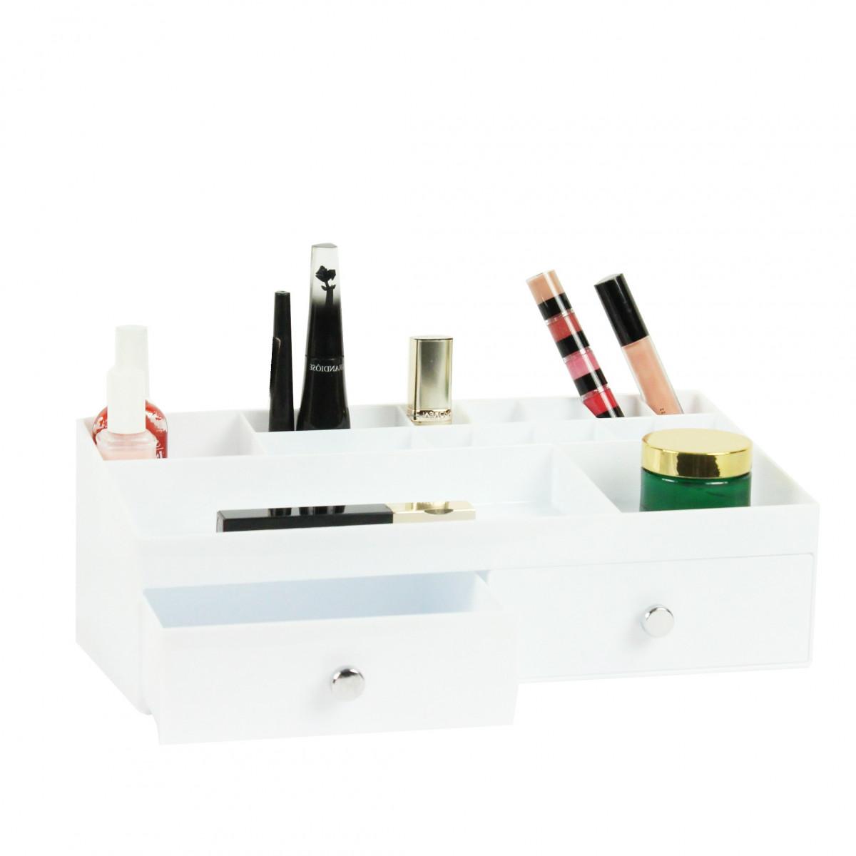 Boite De Rangement Blanche Pour Maquillage Avec Tiroirs Et Compartiments On Range Tout