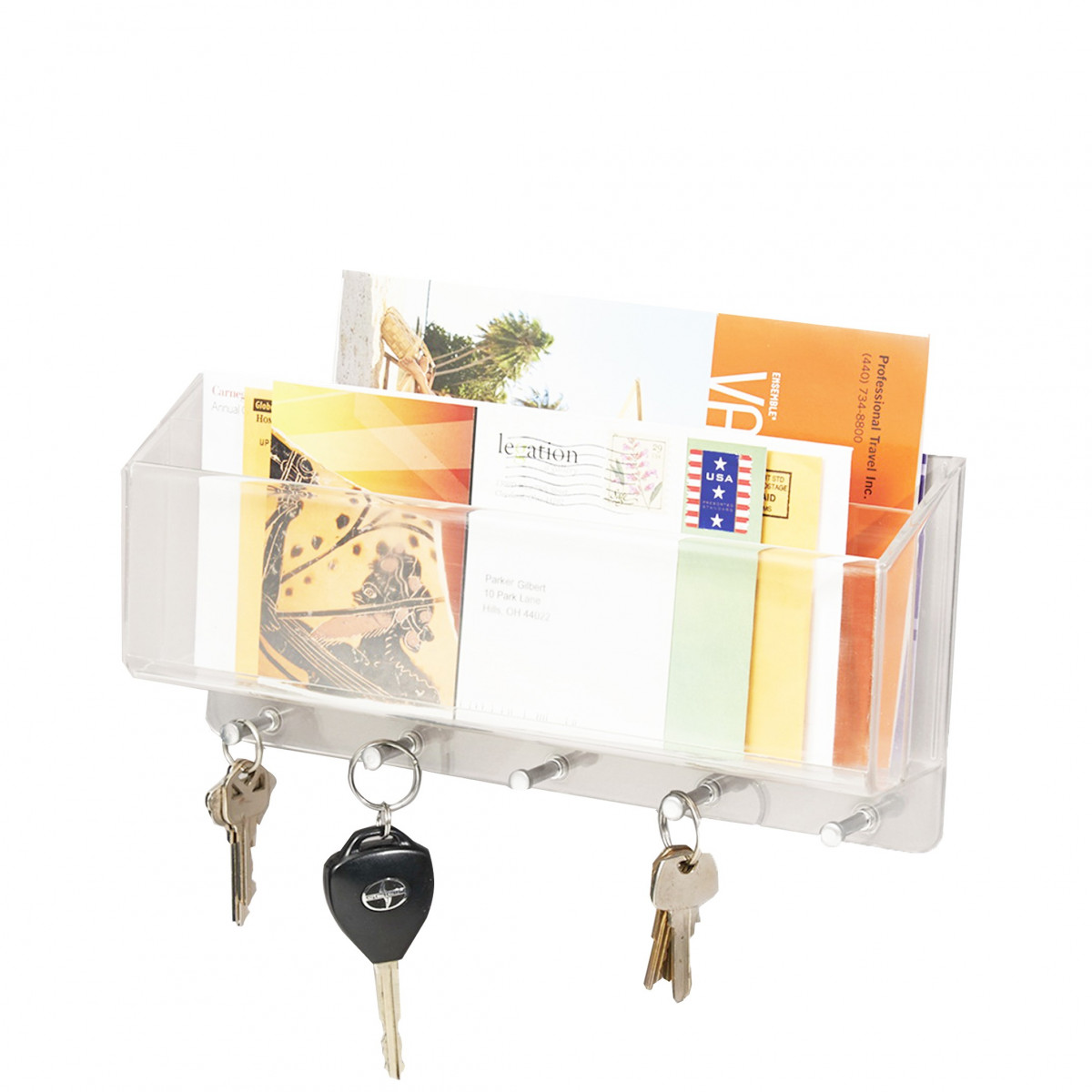 Porte courrier cl s mural rangement entr e for Porte courrier mural