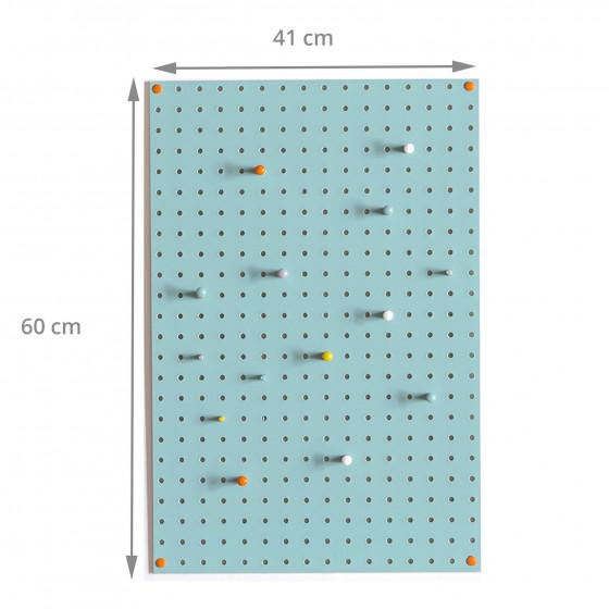 panneau perfor bois bleu vert d 39 eau rangement. Black Bedroom Furniture Sets. Home Design Ideas