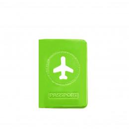 Protège passeport vert pomme brillant