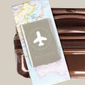 Protège passeport gris brillant