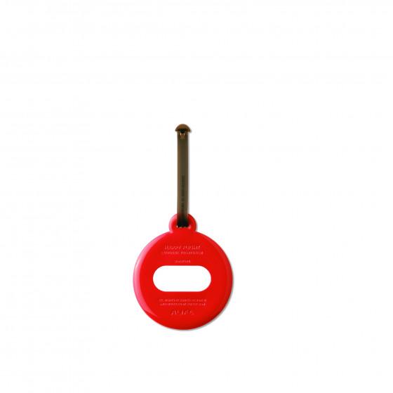 Etiquette ronde de bagage ronde en plastique rouge