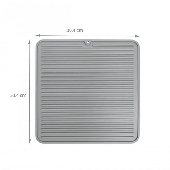 Tapis de séchage pour évier en silicone gris